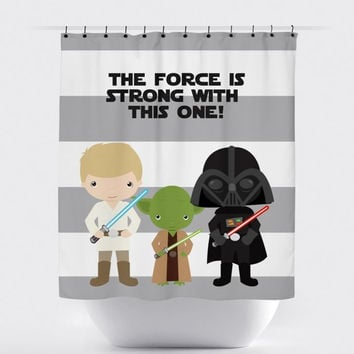 The Force Is Strong - Star Wars Shower Curtain