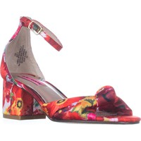 Betsey Johnson Ivee Ankle Strap Sandals, Floral, 9 US