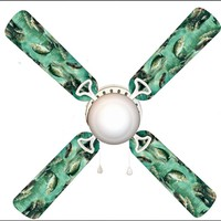 """Fish Fishing Dad's Den 42"""" Ceiling Fan and Lamp"""