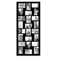 Adeco [PF9107] Decorative Black Wood Wall Hanging Picture Photo Frame, 24 Openings of 4x6 inches each