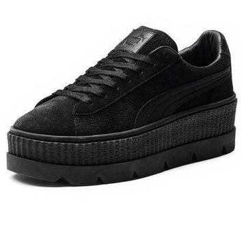 DCC3W PUMA FENTY BY RIHANNA WOMENS CLEATED CREEPER SUEDE - BLACK