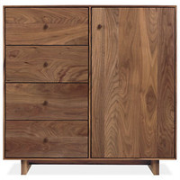 Room & Board - Hudson 30h 30x12 One-Door/Four-Drawer Cabinet with Wood Base