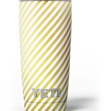 The Golden Diagonal Stripes Yeti Rambler Skin Kit