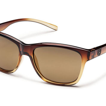 Suncloud - Pageant Brown Fade Sunglasses, Sienna Mirror Polarized Lenses