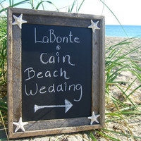 Beach Wedding Starfish ChalkboardSIMPLE by sandnsurfcreations