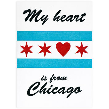 My Heart Is From Chicago Card