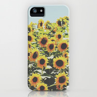 Sunflowers iPhone & iPod Case by crashley96