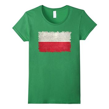 Polish Flag T-Shirt in Vintage stone textures