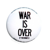 John Lennon - War is Over Button on Sale for $1.99 at HippieShop.com