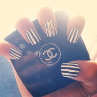 stripe studded cross nails