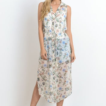 Sheer Lovely Floral Duster Dress