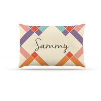 "KESS Original ""Sammy"" Colorful Geometry Dog Bed"