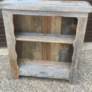 Rex Crown Reclaimed Barn Wood Rustic Style Book Shelf/Hallway Table
