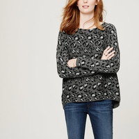 Animal Jacquard Dolman Sweater | LOFT