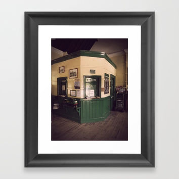 Railway Ticket Office Framed Art Print by Linsey Williams Art