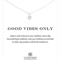 Dogeared 'Good Vibes Only' Sun Pendant Necklace