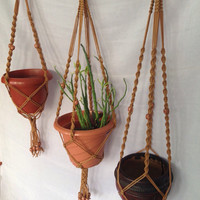 Free shipping today only - Set of 3 Macrame plant hanger/ plant holder /pot hanger/ bird feeder/hanging planter indoor outdoo