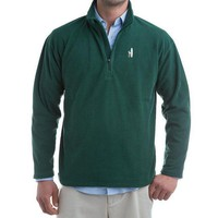 1/4 Zip Fleece Pull-Over Fleece in Hunter Green by Johnnie-O