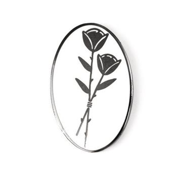 Slower Black Rose Pin