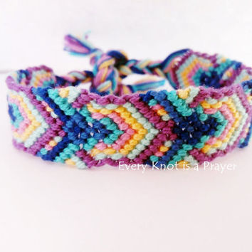 Knots for a Cause - Peacock  Macrame Knotted Friendship Bracelet