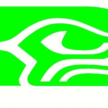 Lot of 10 Seattle Seahawk vinyl Decals 3 inches long Car truck laptop boat