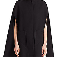 MILLY - Bonded Wool Funnelneck Cape - Saks Fifth Avenue Mobile