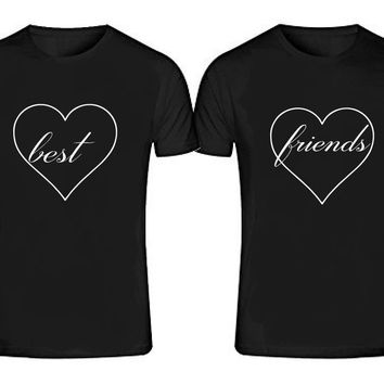 BEST FRIENDS T-shirts + Your NAMES or another text on the back