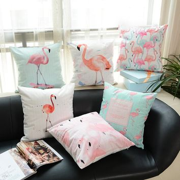 Flamingo pillow macarons printing super soft cushion cover without core