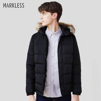 Men Cotton Coats Men Clothing With Fur Hooded Parkas Casual Man Winter Outerwear