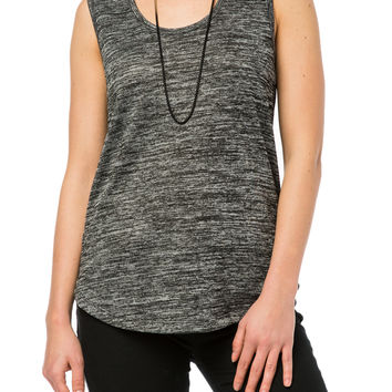 Girls Hacci Boyfriend Tunic Tank