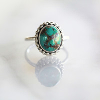 Natural Turquoise Ring Solid 925 Sterling Silver Ring