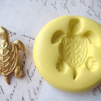 SEA TURTLE - Flexible Silicone Mold - Push Mold, Jewelry Mold, Polymer Clay Mold, Resin Mold, Craft Mold, Food Mold, PMC Mold