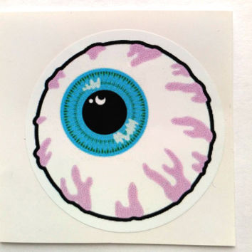 Vinyl Sticker #28.  Eye sticker. Tumblr vinyl stickers, Vinyl Decal, Laptop Vinyl Stickers, Fun Stickers.