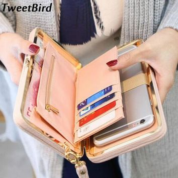 TWEET BIRD Women PU Leather Wallet Clutch Bag Wallet Zipper Long Purses Card Holder Ladies Large Capacity Money Coin Purse
