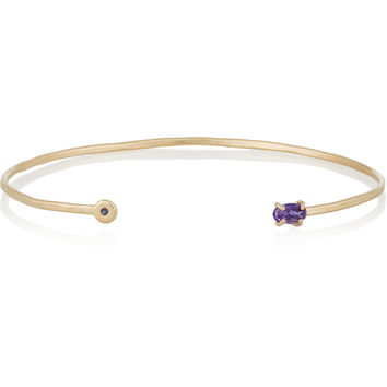 Melissa Joy Manning - 14-karat gold, tanzanite and sapphire cuff