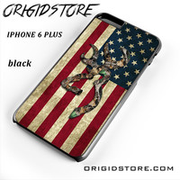 Browning Deer Camo American Flag Wood For Iphone 6 Plus Case UY