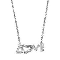 Love Sterling Silver and Cubic Zirconia Necklace