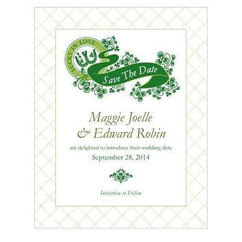 Luck Of The Irish Save The Date Card Plum (Pack of 1)