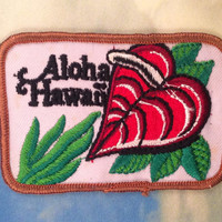 Aloha Hawaii Vintage Travel Patch