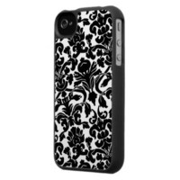 Damask wallpaper Pattern Iphone 4 Cases from Zazzle.com