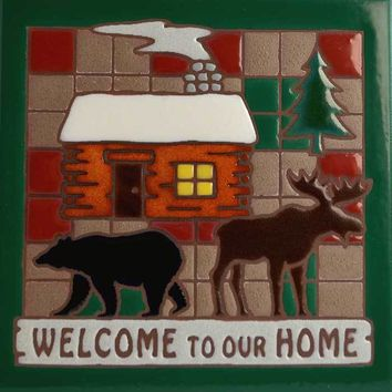 Masterworks Handcrafted Art Tiles - Welcome To Our Home