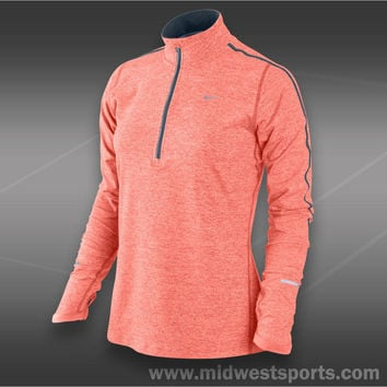 nike womens tennis jacket, Nike Womens Element Half Zip Top 481320-606