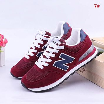 New Balance Fashion New Z Letter Mesh Women Men Sports Leisure Contrast Color Shoes 7#