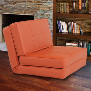 Orange Light Weighted Foam Sofa Bed