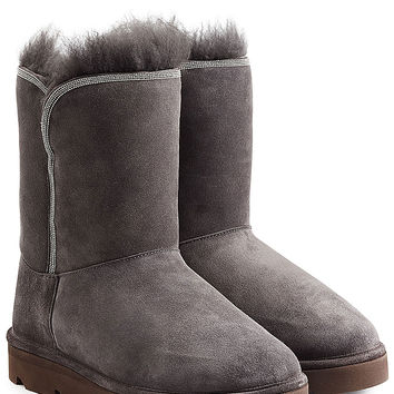 Brunello Cucinelli - Fur-Lined Sueded Boots
