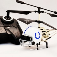 NFL Remote-Controlled Helmet Helicopter.
