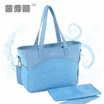 INSULAR Diaper Bag Large Capacity Mommy Bag Travel Baby Bag Multifunctional Popular Elements Inclined Shoulder Baby Bag Portable