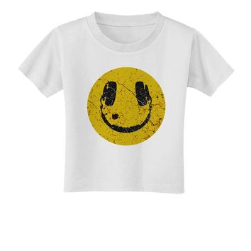 EDM Smiley Face Toddler T-Shirt by TooLoud