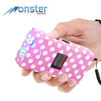 25 Million Volt Rechargeable Stun Gun W/ LED Light & Disable Pin Pink/White