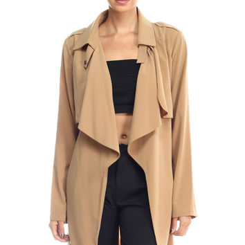 A Casual Outing Trench Coat